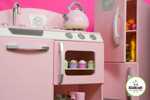 KidKraft Pink Retro Kitchen - All-Star Learning Inc. - Proudly Canadian