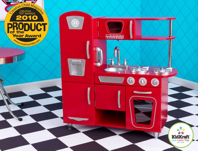 KidKraft Red Vintage Kitchen - All-Star Learning Inc. - Proudly Canadian