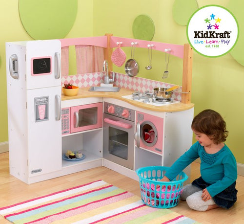 KidKraft Grand Gourmet Corner Kitchen - All-Star Learning Inc. - Proudly Canadian