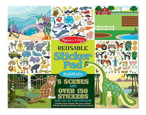 Melissa and Doug Habitats Reusable Sticker Pad - All-Star Learning Inc. - Proudly Canadian