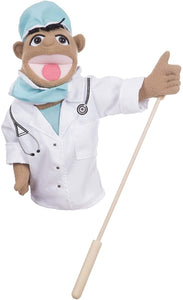 Melissa and Doug Surgeon Puppet with Doctor Scrubs & Detachable Wooden Rod for Animated Gestures - All-Star Learning Inc. - Proudly Canadian