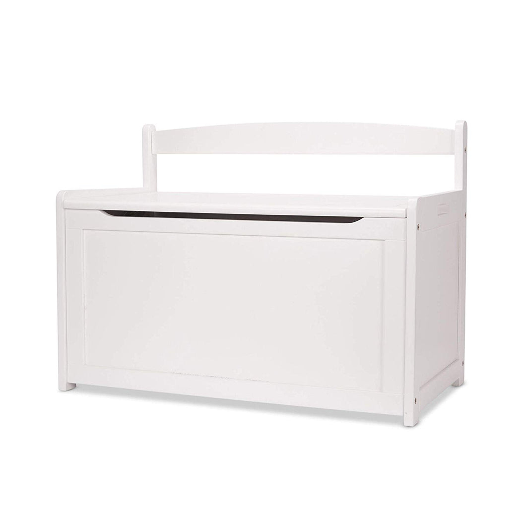 Melissa and Doug Wooden Toy Chest - White