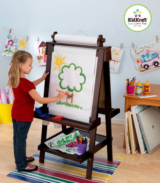 KidKraft Deluxe Espresso Easel - All-Star Learning Inc. - Proudly Canadian