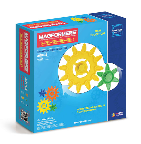 Magformers Magnets in Motion 20 Pcs Gears Accessory Set - All-Star Learning Inc. - Proudly Canadian