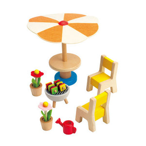 Hape Patio Set Dollhouse Furniture - All-Star Learning Inc. - Proudly Canadian
