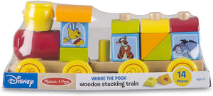 Melissa and Doug Winnie The Pooh Wooden Stacking Train