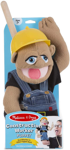 Melissa and Doug Construction Worker Puppet with Detachable Wooden Rod for Animated Gestures - All-Star Learning Inc. - Proudly Canadian