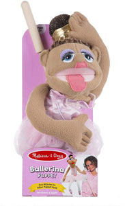 Melissa and Doug Ballerina Puppet with Detachable Wooden Rod for Animated Gestures