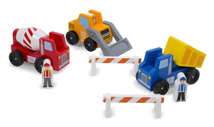 Melissa and Doug Construction Vehicle Wooden Play Set (8 pcs)