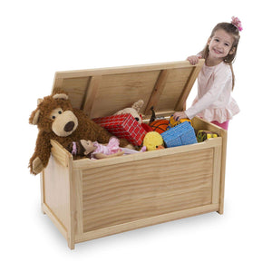 Melissa and Doug Wooden Toy Chest - Honey