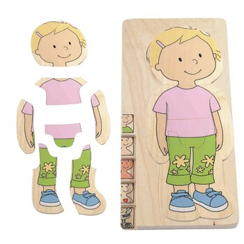 Hape Your Body - Girl 5 Layer Puzzle - All-Star Learning Inc. - Proudly Canadian