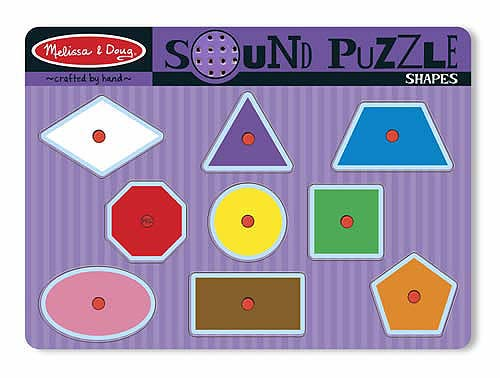 Melissa and Doug Shapes Sound Puzzle - All-Star Learning Inc. - Proudly Canadian