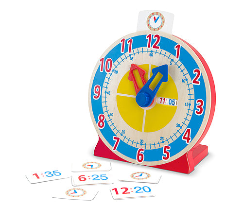 Melissa and Doug Turn & Tell Wooden Clock - All-Star Learning Inc. - Proudly Canadian