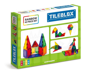 TileBlox Rainbow 42 Pcs Set - All-Star Learning Inc. - Proudly Canadian