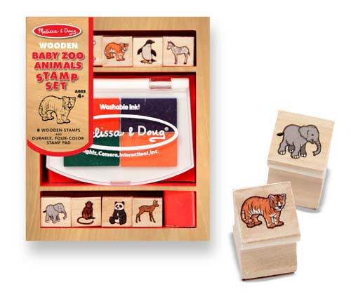 Melissa and Doug Baby Zoo Animal Stamp Set - All-Star Learning Inc. - Proudly Canadian