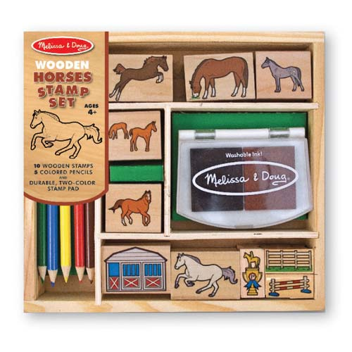 Melissa and Doug Horses Stamp Set - All-Star Learning Inc. - Proudly Canadian
