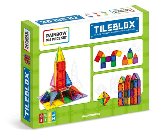 TileBlox Rainbow 104 Pcs Set - All-Star Learning Inc. - Proudly Canadian