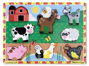 Melissa and Doug Farm Chunky Puzzle - All-Star Learning Inc. - Proudly Canadian