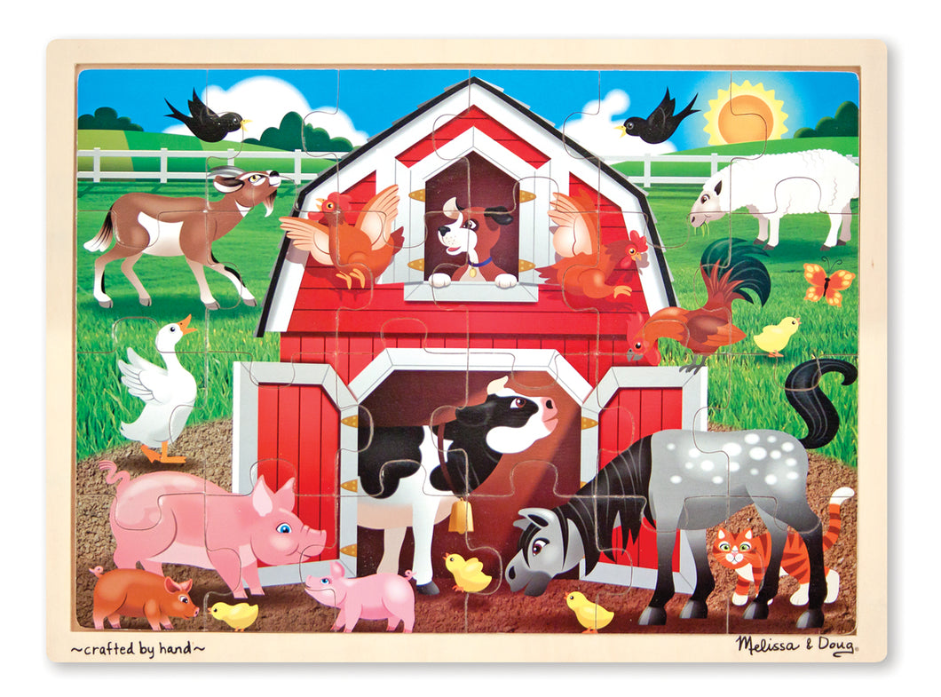 Melissa and Doug Barnyard Buddies Wooden Jigsaw Puzzle - 24 Pieces - All-Star Learning Inc. - Proudly Canadian