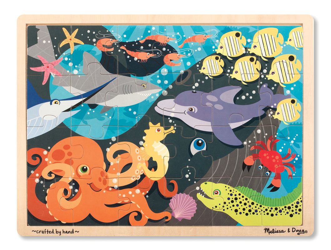 Melissa and Doug Under the Sea Wooden Jigsaw Puzzle - 24 Pieces - All-Star Learning Inc. - Proudly Canadian