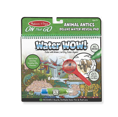 Melissa and Doug Water Wow -  Animal Antics Deluxe Water Reveal Pad