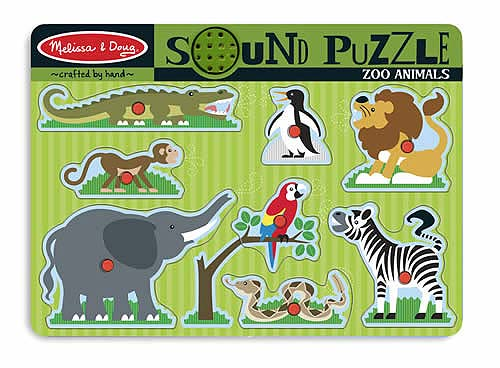 Melissa and Doug Zoo Animals Sound Puzzle - All-Star Learning Inc. - Proudly Canadian