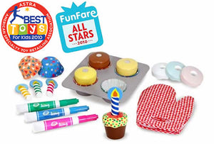 Melissa and Doug Bake & Decorate Cupcake Set - All-Star Learning Inc. - Proudly Canadian