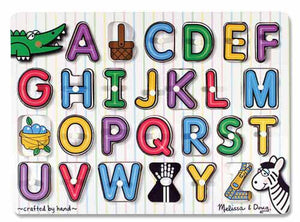 Melissa and Doug See-Inside Alphabet Peg Puzzle - All-Star Learning Inc. - Proudly Canadian