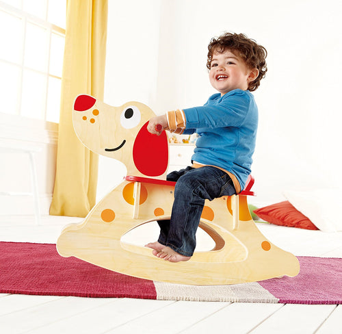 Hape Rock-A-Long Puppy Rocker - All-Star Learning Inc. - Proudly Canadian