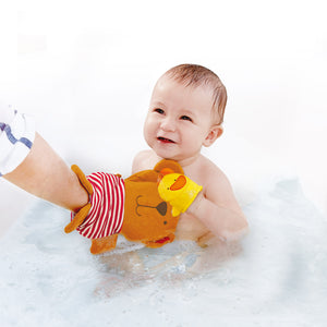 Hape Teddy and Duck Bath Mitt Set - All-Star Learning Inc. - Proudly Canadian