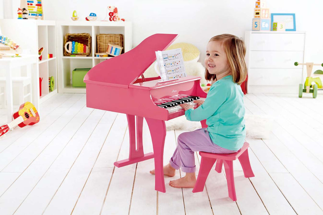 Hape Grand Piano Pink - All-Star Learning Inc. - Proudly Canadian