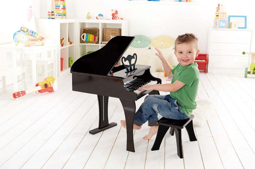 Hape Grand Piano Black - All-Star Learning Inc. - Proudly Canadian