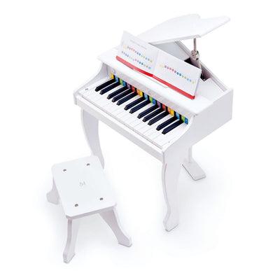 Hape Deluxe Grand Piano (White) - All-Star Learning Inc. - Proudly Canadian
