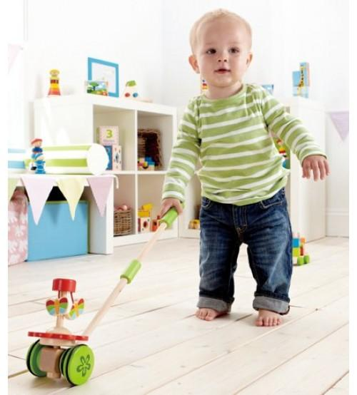 Hape Dancing Butterfly Pull & Push Toy - All-Star Learning Inc. - Proudly Canadian