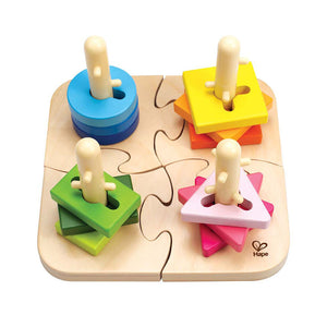 Hape Creative Peg Puzzle - All-Star Learning Inc. - Proudly Canadian