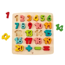 Hape Chunky Number Math Puzzle - All-Star Learning Inc. - Proudly Canadian