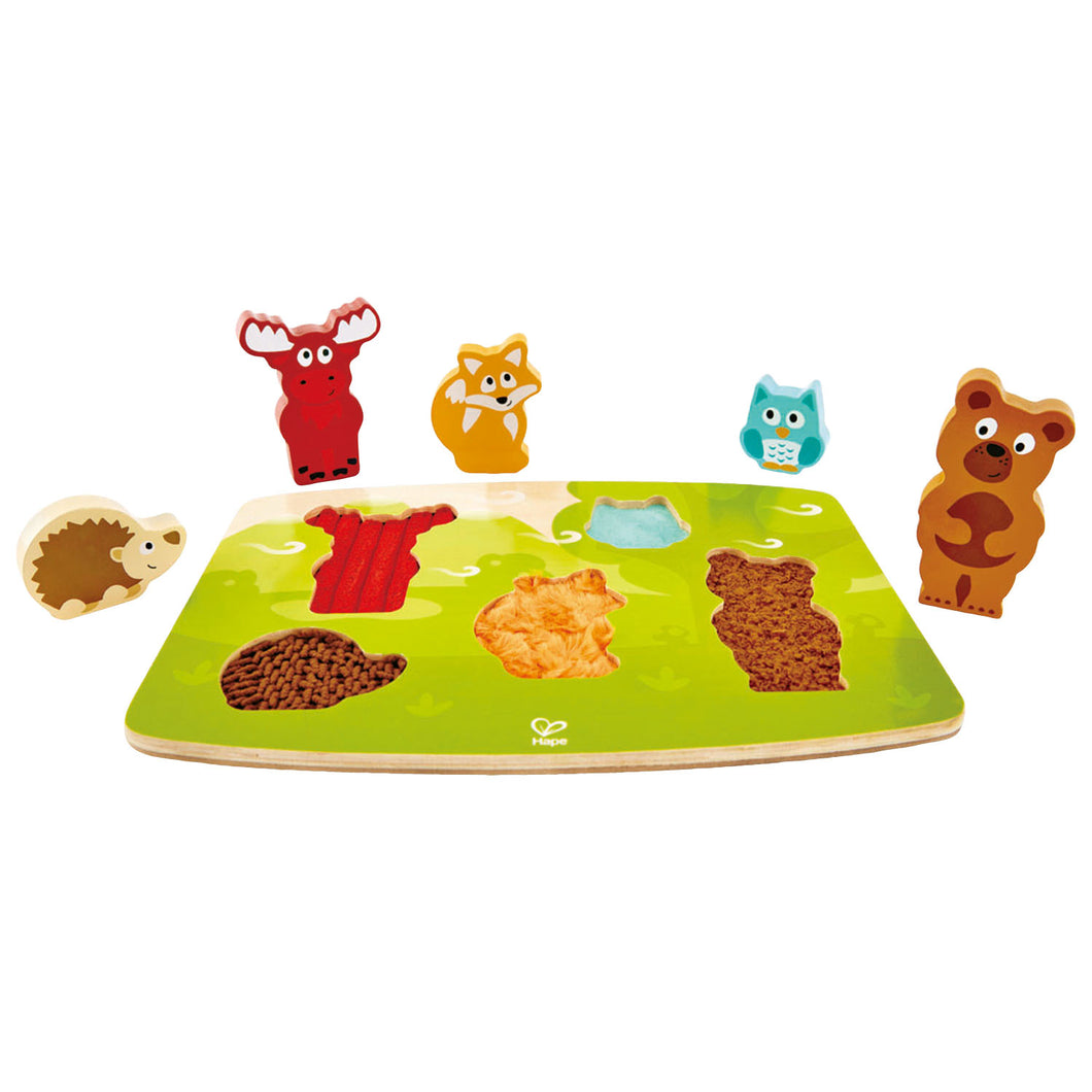 Hape Forest Animal Tactile Puzzle - All-Star Learning Inc. - Proudly Canadian