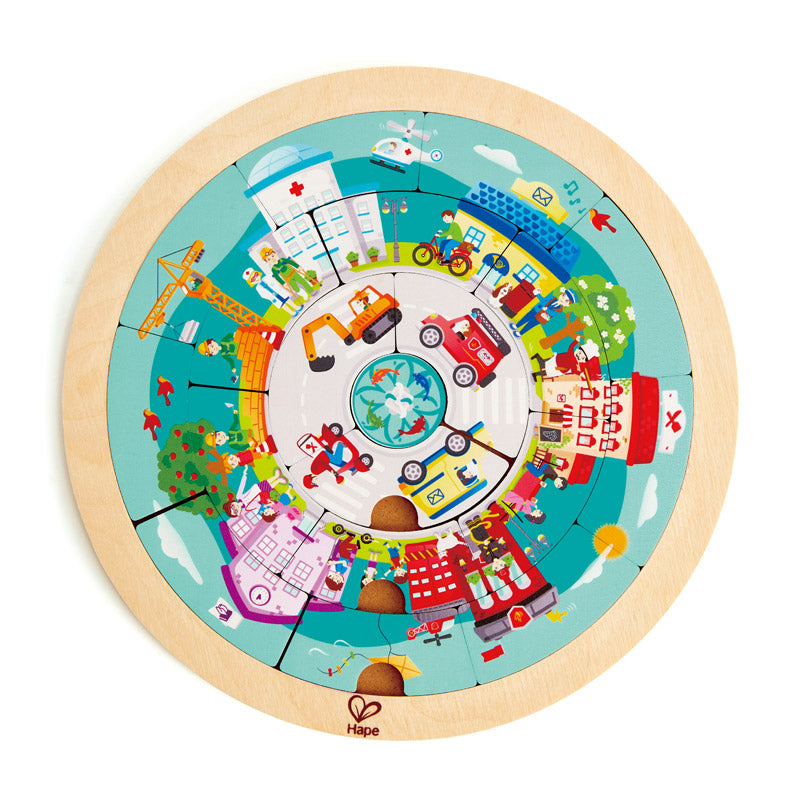 Hape Jobs Roundabout Puzzle - All-Star Learning Inc. - Proudly Canadian