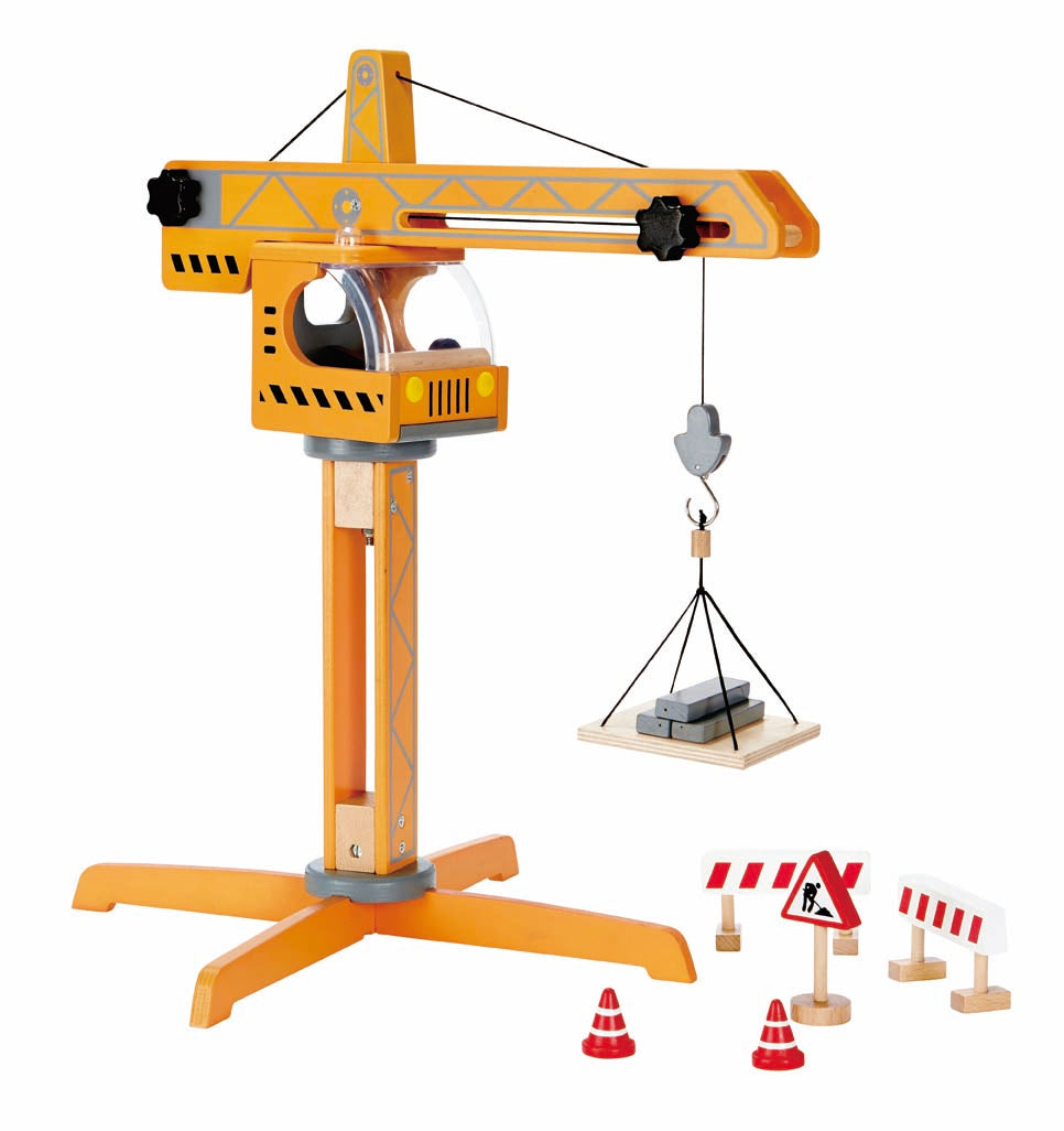 Hape Crane Lift - All-Star Learning Inc. - Proudly Canadian