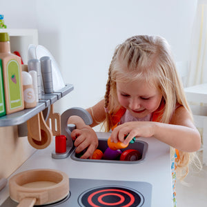 Hape NEW White Gourmet Kitchen - All-Star Learning Inc. - Proudly Canadian