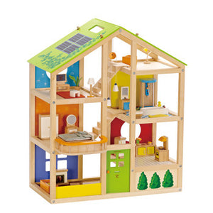 Hape All Season Dollhouse (Furnished) - FREE Happy Baby - All-Star Learning Inc. - Proudly Canadian
