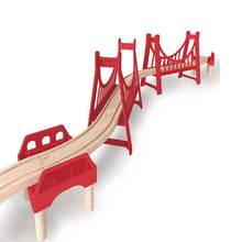 Hape Extended Double Suspension Bridge (Hape Railway) - All-Star Learning Inc. - Proudly Canadian