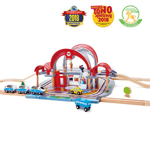 Hape Grand City Station (Hape Railway) - All-Star Learning Inc. - Proudly Canadian