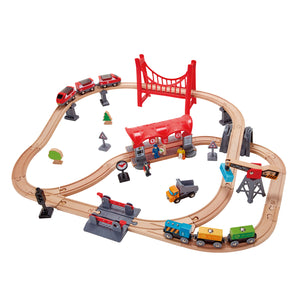 Hape Busy City Rail Set (Hape Railway) - All-Star Learning Inc. - Proudly Canadian