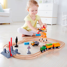 Hape Cross & Crane Set (Hape Railway) - All-Star Learning Inc. - Proudly Canadian