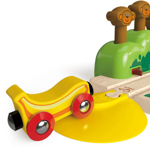 Hape Monkey Pop-Up Track (Hape Railway) - All-Star Learning Inc. - Proudly Canadian