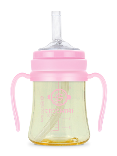 Grosmimi PPSU Straw Cup - 200ml (Pink)