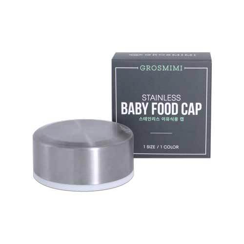 Grosmimi Stainless Baby Food Cap - All-Star Learning Inc. - Proudly Canadian