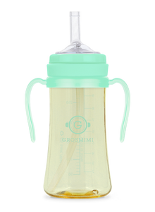 Grosmimi PPSU Straw CUP 300ml (Aqua Green) - All-Star Learning Inc. - Proudly Canadian