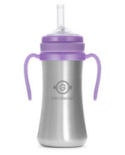 Grosmimi STAINLESS Straw CUP 200ml (Lavender) - All-Star Learning Inc. - Proudly Canadian